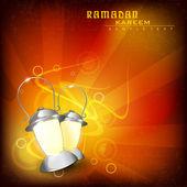 Vector red Ramdan Kareem background — Stock Vector