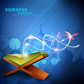 Vector blue ramadan kareem background — Vecteur