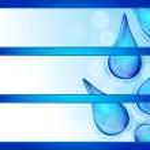 Banner design on blue background. Vector. — Stock Vector