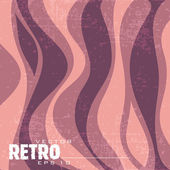 Vector retro background with waves — Stock Vector