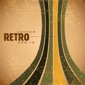 Grungy retro background in brown, yellow and green color — Stockvector