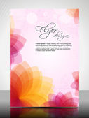 Corporate flyer, poster or cover design with colorful floral design — Stock Vector