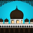 Abstract Illustration of Mosque,Masjid on abstract background wi — Stock Vector