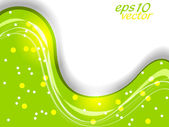 Abstract green wave background for flyer, banner or poster and c — Stock Vector