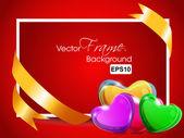 Abstraktní pozdrav, dárkové karty nebo banner s dekorativní barevné — Stock vektor