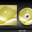 Vector CD cover design. — Stock Vector