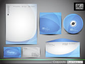 Identidad corporativa profesional kit o kit de negocio. — Vector de stock