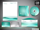 Professional corporate identity kit or business kit. — 图库矢量图片