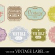 Set of elegant but simple colorful RETRO labels - easy editable. — Stock Vector