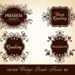 Vector set of calligraphic design ornate frame and page decorati - Stock Vector