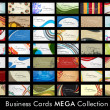 Mega Collection Abstract Business Cards set in various concepts. — Stockvektor