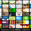 Elegant Abstract Vector Business Cards, Mixed Bag set in various — Stockvektor
