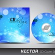 CD cover presentation design template with copy space and wave e — Stock Vector