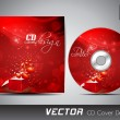 CD cover presentation design template with copy space and love c — Stockvektor