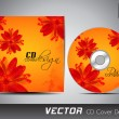 Royalty-Free Stock Vector Image: CD cover presentation design template with copy space and flower