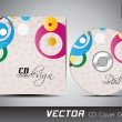 CD cover presentation design template with copy space and circal — Stock Vector