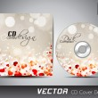 CD cover presentation design template with copy space and love c — Vector de stock