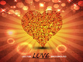 Abstract love background. — Stock Vector