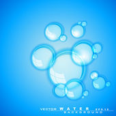 Abstract background with water waves and sun light. — Stock Vector