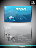 Vector blue business card,with 3d star shape element,EPS 10 Vect — Stock Vector