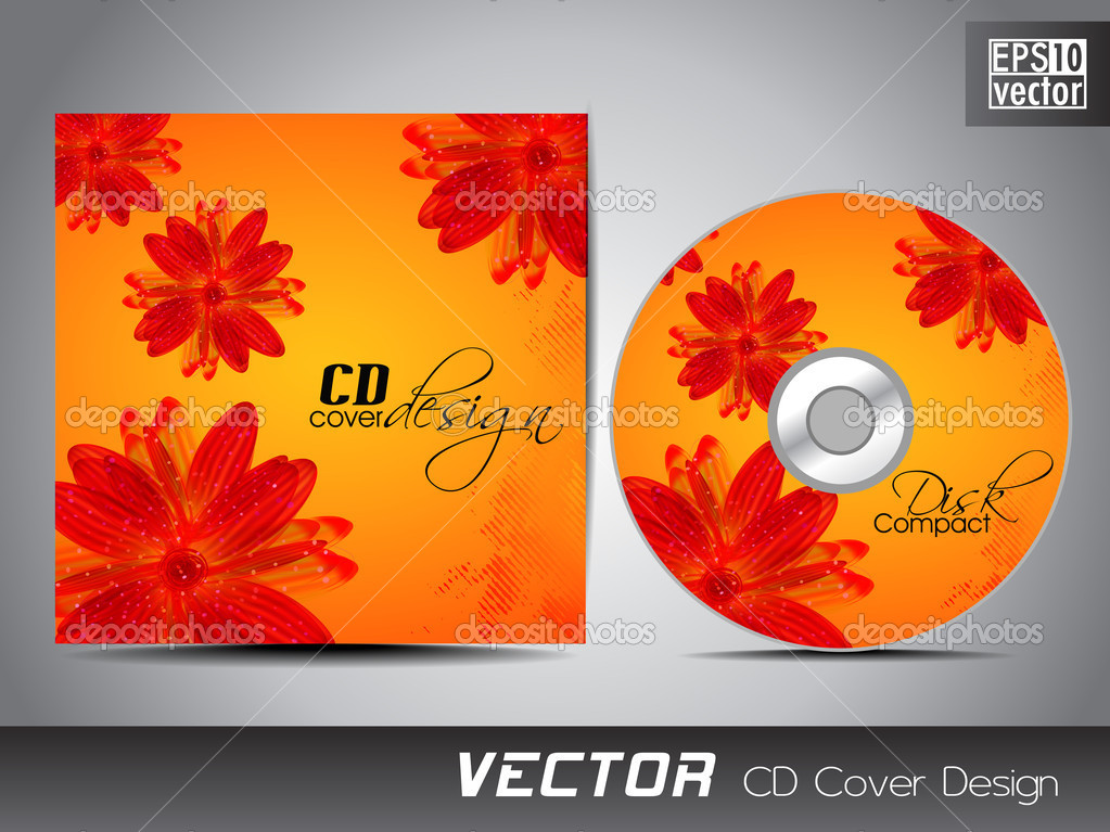 Cd Cover Design Template. Cd Cover Design Template Eps 10 Vector