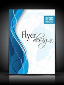 Viajero de negocios profesional, folleto corporativo o plantilla de diseño de la cubierta — Vector de stock