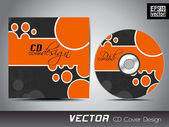 Vector CD cover design with colorful abstract design in grey and — Stock Vector