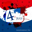 Happy Independence Day 4th of July abstract background and sticker cards in vector format, EPS 10 - Stock Vector