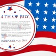 Happy Independence Day 4th of July abstract background and cards in vector format, EPS 10 - Stock Vector