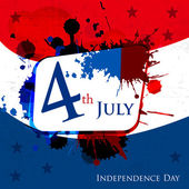 Happy Independence Day 4th of July abstract background and sticker cards in vector format, EPS 10 — Stock Vector