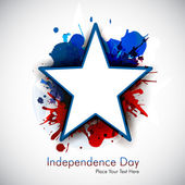 Abstract grungy star for 4th of july. — Vector de stock