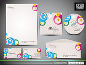 Professional corporate identity kit or business kit with artisti — Stock Vector