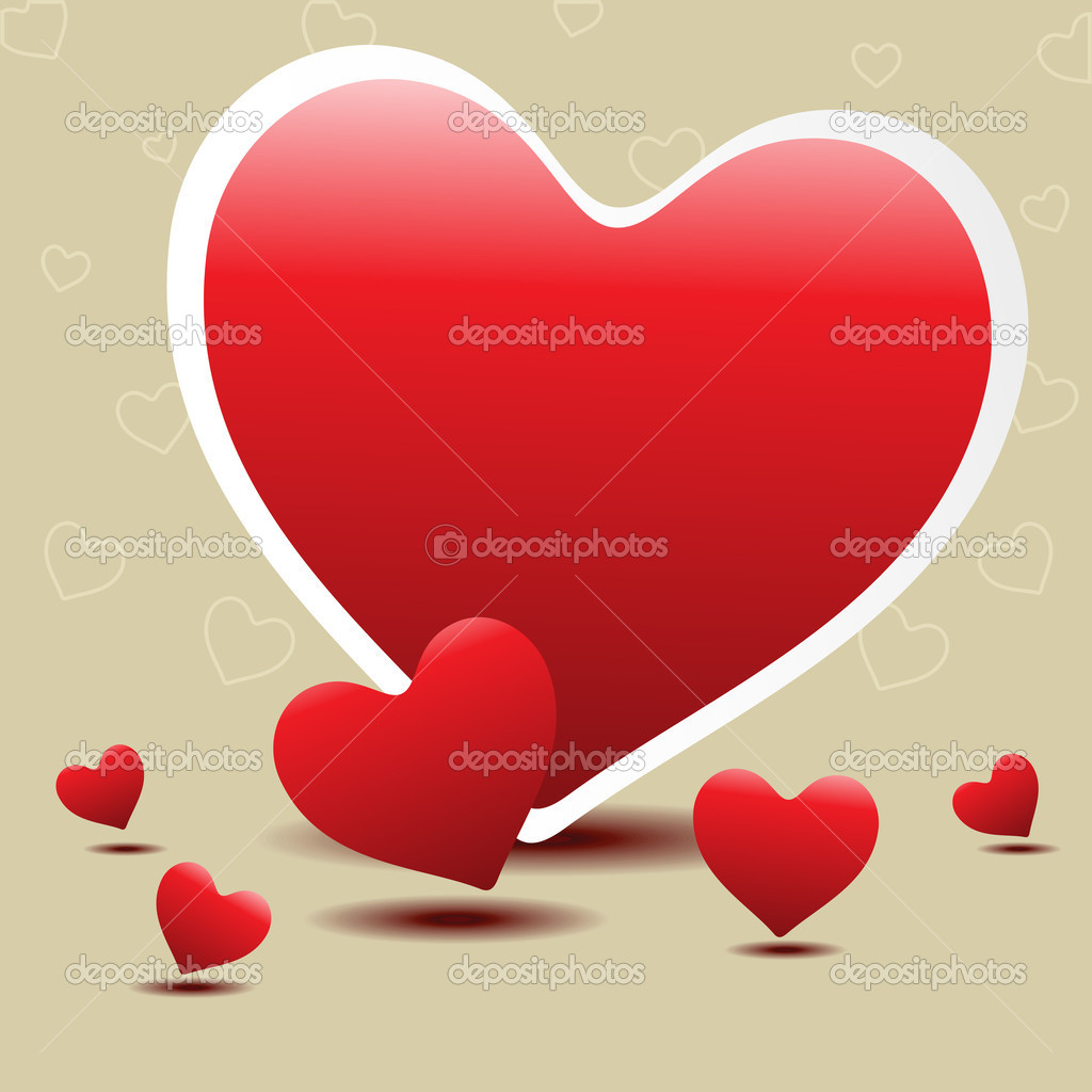 Hearts concept design for Valentines Day. — Stock Vector #7985390