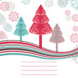 Christmas trees card on white  background. — Stock Vector #8009802