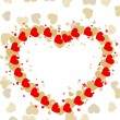 Greeting card with colorful heart shape and space for your text. - Image vectorielle