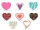 A set of diffrent style heart shape. Vector illustration. — Stock Vector