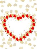 Greeting card with colorful heart shape and space for your text. — Vetor de Stock