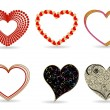 A set of diffrent style hearts. Vector Illustration. — Stockvectorbeeld