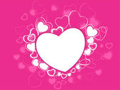 A beautiful Valentines Day card with hearts on pink background. — Stock Vector