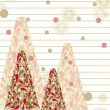 A colorful  christmas trees on line paper background for Christm - Stock Vector