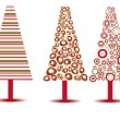 Stock Vector: Set of luxury Christmas trees on isolated background. Vector ill