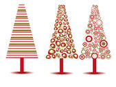 Set of luxury Christmas trees on isolated background. Vector ill — Stock Vector