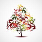 Barevné kreativní vánoční strom. vektorové ilustrace. — Stock vektor