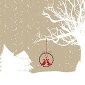 Abstract of winter scene background for Christmas. Vector illust — Stock Vector