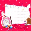 A Beautiful Christmas Card With Dark Pink Background. — Vecteur