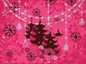 рождество гранж-фон с деревом, элемент для дизайна, векто — Cтоковый вектор