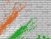 тема цветов в абстрактной, национального флага на фоне стены. вектор — Cтоковый вектор