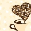 Coffee for your loved one. Vector illustration. — Vettoriale Stock