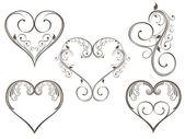 Vector illustration of vintage design heart shape for Valentine — Stock Vector