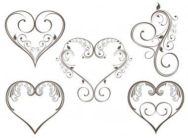 Vector illustration of vintage design heart shape for Valentine